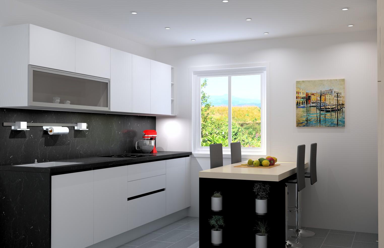 projet cuisine rendus 3d et plans techniques de cuisines. Black Bedroom Furniture Sets. Home Design Ideas